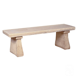 Banc droit simple ancien - 123cm