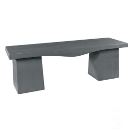 Salons de jardin tables et bancs en pierre reconstitu e - Banc de jardin en ciment ...