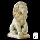 Lion sur boule - H 44cm