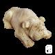 Chien Bulldog en pierre - 43cm