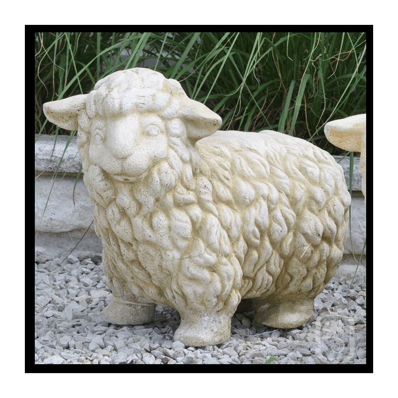 Mouton en pierre h 30cm for Mouton deco jardin