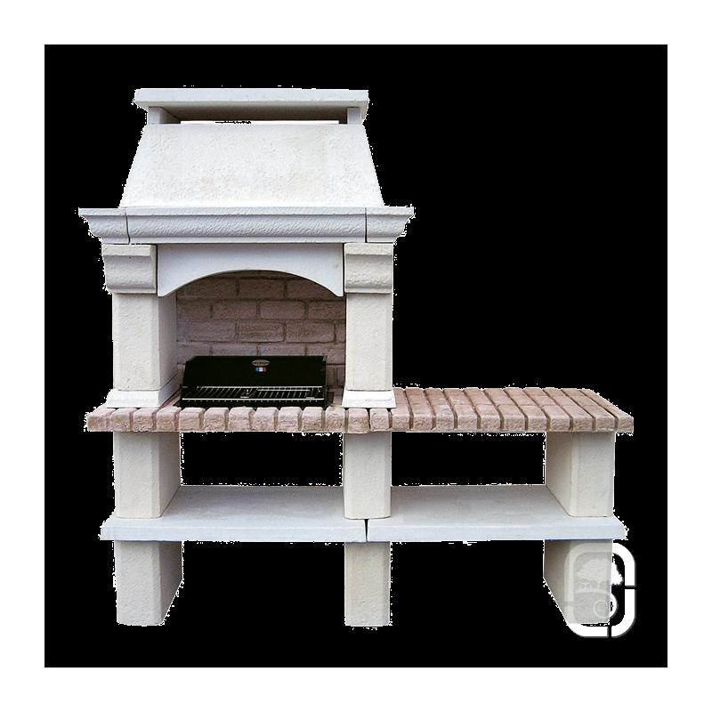 barbecue en pierre mons 1 table. Black Bedroom Furniture Sets. Home Design Ideas