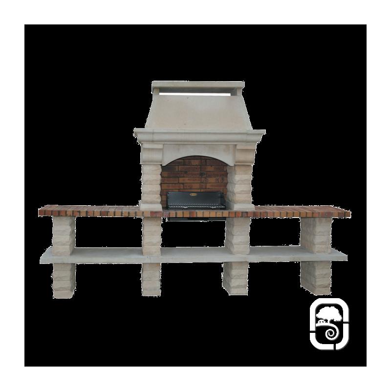 barbecue en pierre rustique 2 tables. Black Bedroom Furniture Sets. Home Design Ideas