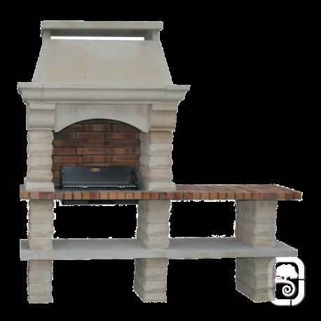 Barbecue en pierre Rustique à 1 table