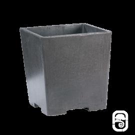 Pot carré béton ciré - Ardoise - 30 cm