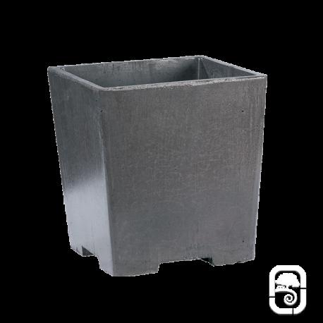 Pot carré béton ciré M - Ardoise - 40 cm
