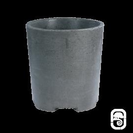 Pot rond béton ciré S - Ardoise - 30 cm