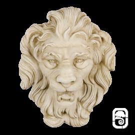 Tête de lion jet d'eau pierre patinée - H 47cm