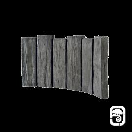 Bordurette Courbe Schiste ton ardoise - 52cm