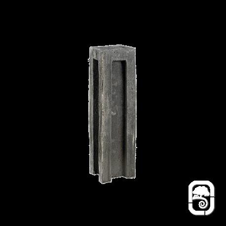 Bloc schiste angle ton ardoise - H29cm