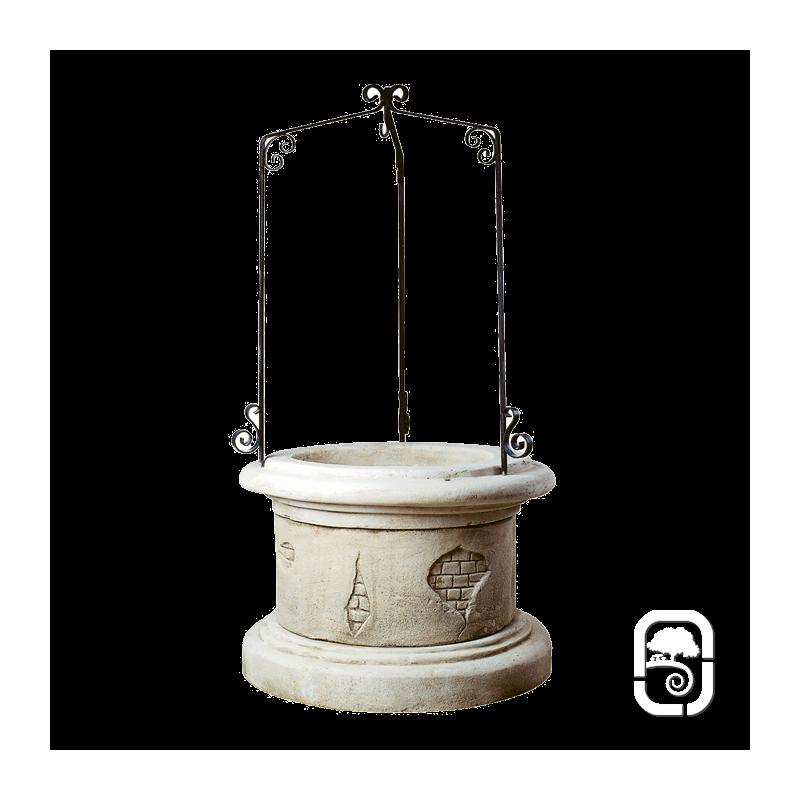 Petit puits catalan ton vieilli 70cm for Puit decoratif de jardin