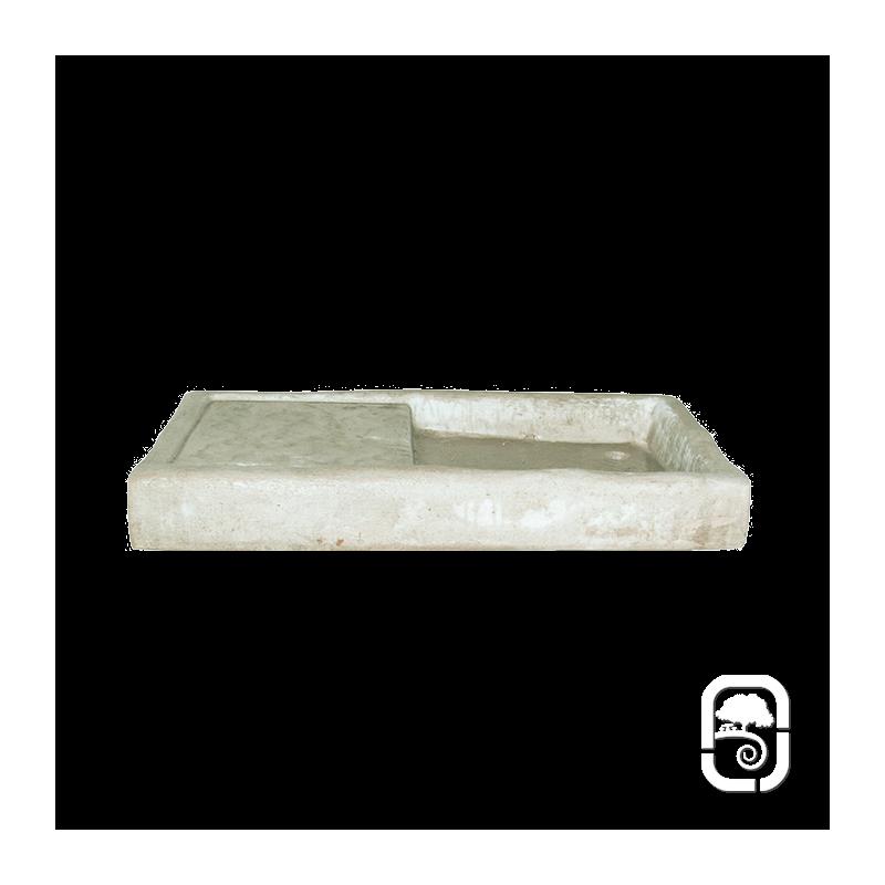 Vier rectangle ton pierre vieillie for Evier pierre exterieur