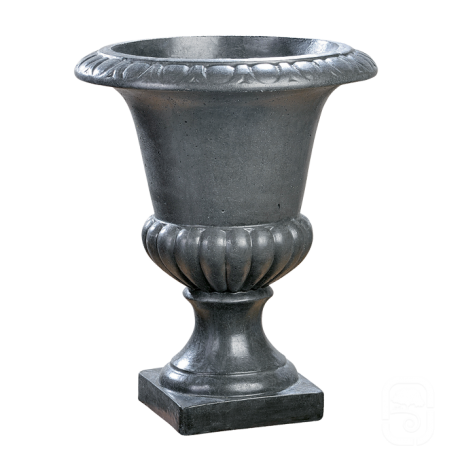 Vase Médicis M2 béton ciré ardoise - Ø42 cm