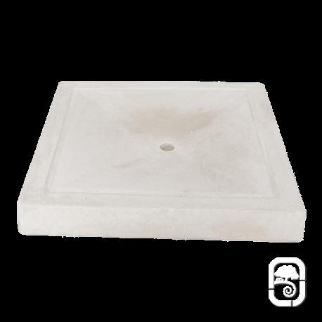 Pédiluve carré ton pierre - 80cm