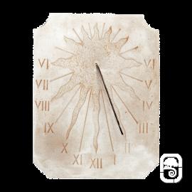 Cadran solaire incrustation Soleil ton pierre vieillie