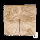 Cadran solaire Olivier ton pierre vieillie