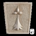 Écusson Hermine en pierre reconstituée vieillie