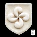 Écusson Croix Basque en pierre reconstituée vieillie