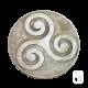 Écusson Triskell en pierre reconstituée vieillie