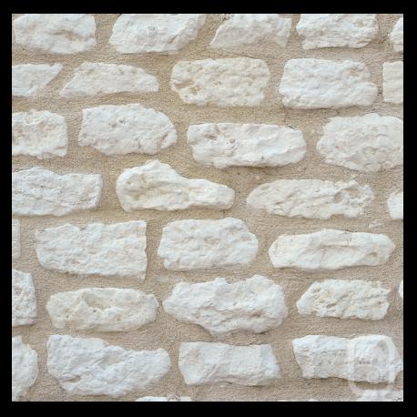 Petites pierres de parement rustique ton blanc 1m for Quelle tva pour quel produit