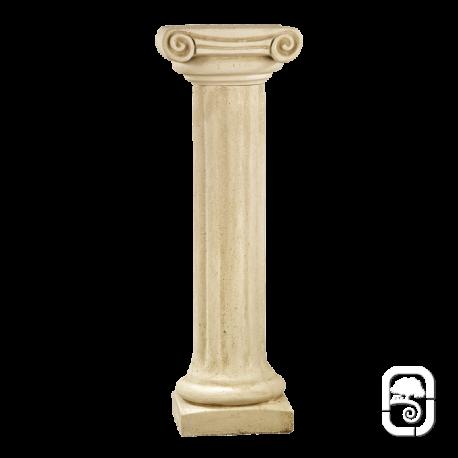 Colonne pierre patin e chapiteau ionique 104 cm for Colonne decorative exterieur