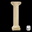 Colonne pierre patinée chapiteau ionique - 104 cm