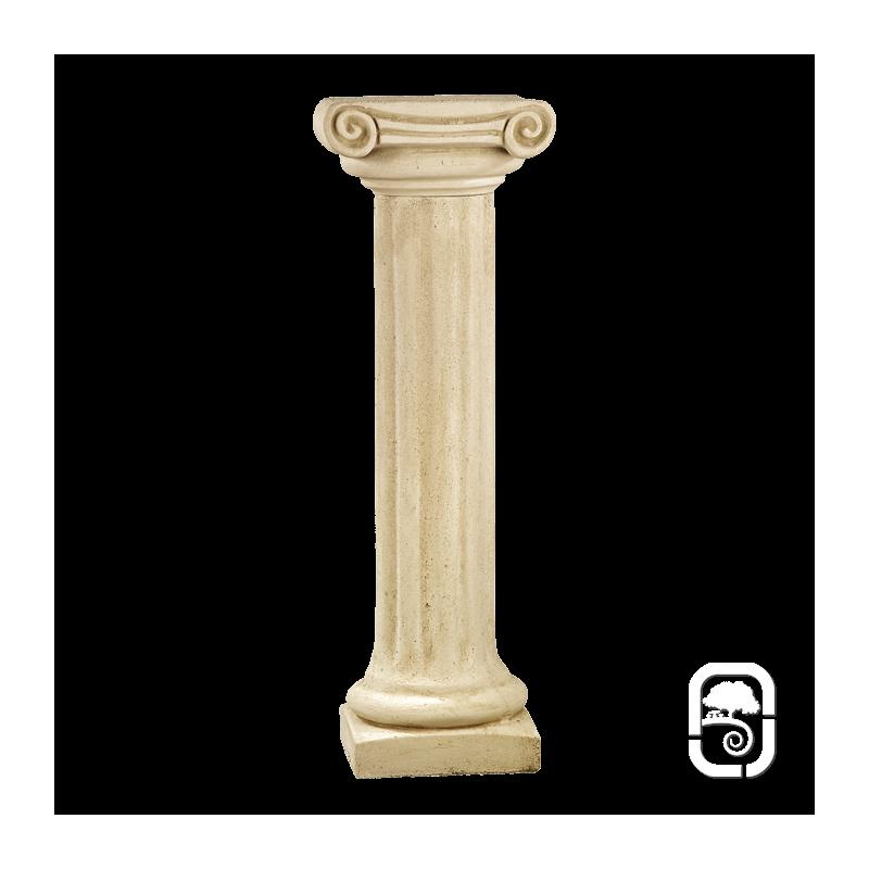 colonne pierre patin e chapiteau ionique 104 cm. Black Bedroom Furniture Sets. Home Design Ideas