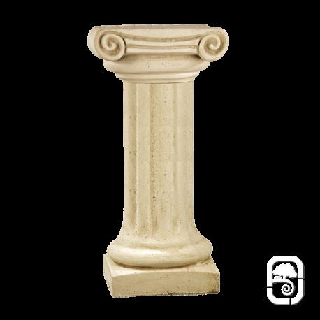 Colonne pierre patinée chapiteau ionique - 70 cm