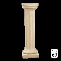 Colonne pierre patinée chapiteau carré - 104 cm