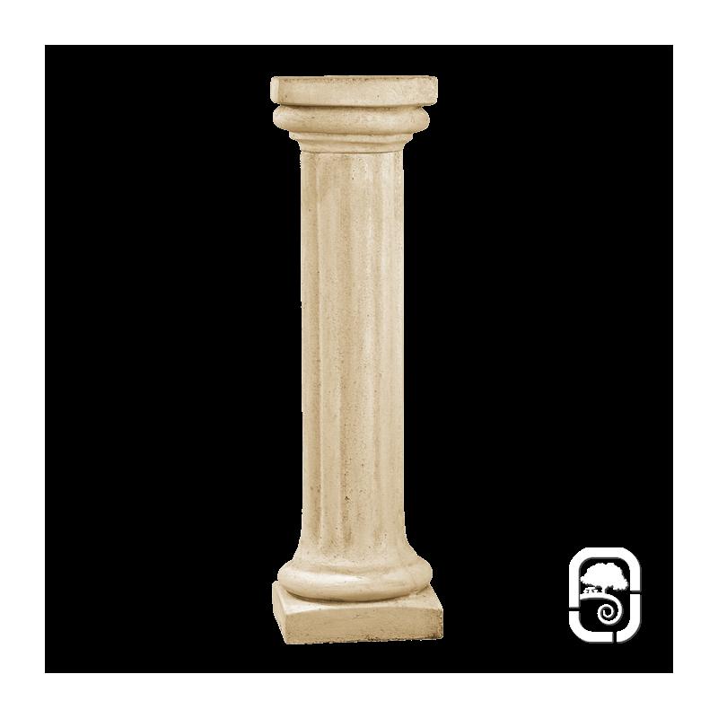 colonne pierre patin e chapiteau carr 104 cm. Black Bedroom Furniture Sets. Home Design Ideas