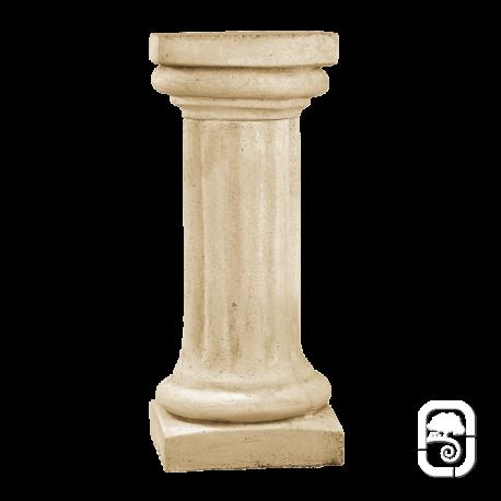 Colonne pierre patinée chapiteau carré - 70cm