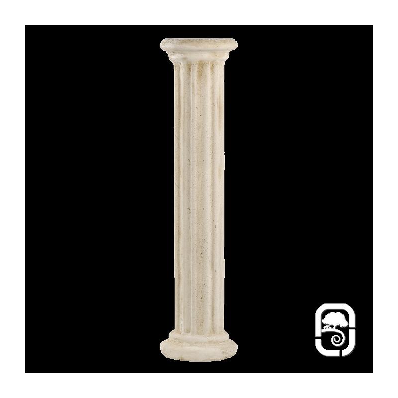 Colonne grecque en pierre patin e 100cm for Colonne decorative exterieur