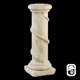 Colonne au serpent pierre patinée - 64cm