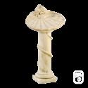 Bain d'oiseau sur colonne en pierre patinée - 81cm