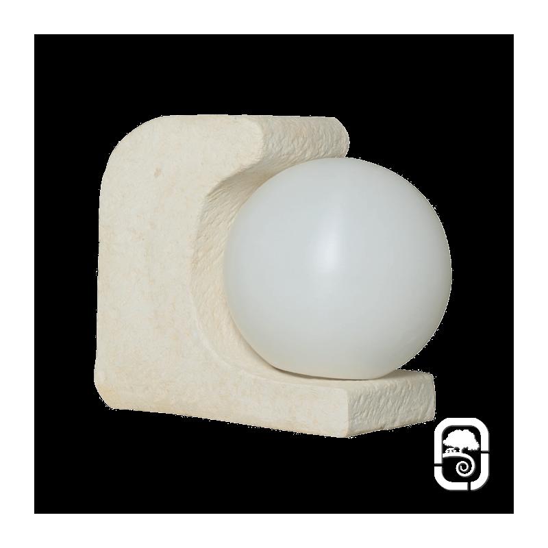 Luminaire d co globe ton pierre 30cm for Luminaire exterieur globe