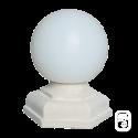 Luminaire Globe base Hexagonale ton pierre