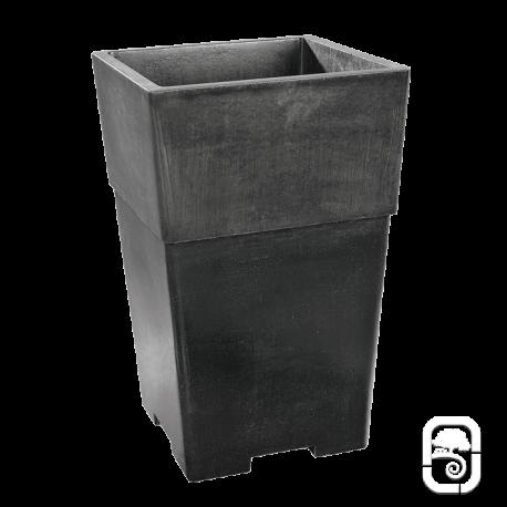 Pot carré haut béton ciré ardoise - 49X70cm