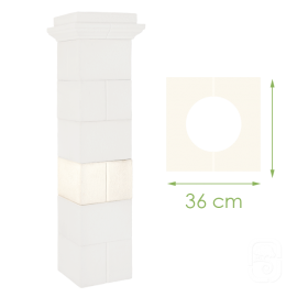 Élément de pilier Guyenne en pierre reconstituée - 36cm