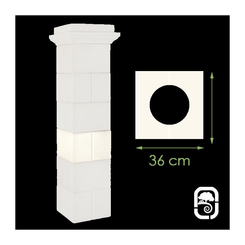 l ment de pilier guyenne en pierre reconstitu e 36cm. Black Bedroom Furniture Sets. Home Design Ideas