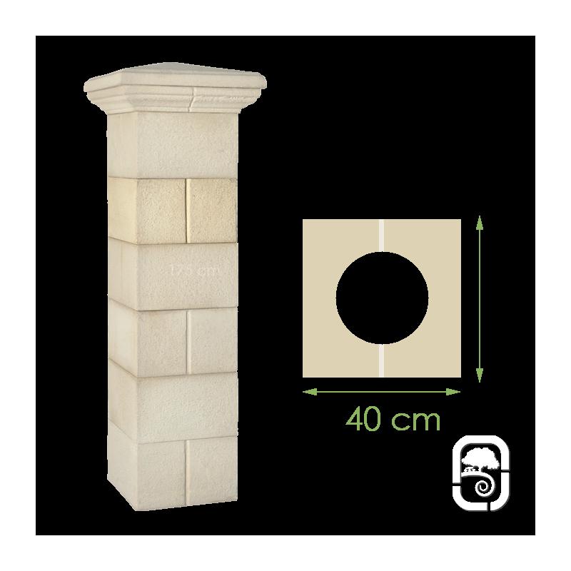 l ment de pilier rainur ton pierre 40cm. Black Bedroom Furniture Sets. Home Design Ideas