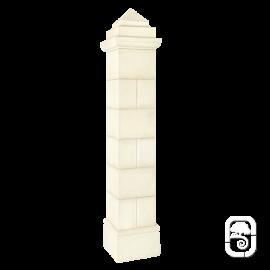 Pilier Périgord 30 blanc en pierre reconstituée - H 205cm