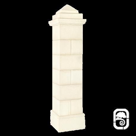Pilier Périgord 40 blanc en pierre reconstituée - H 218cm