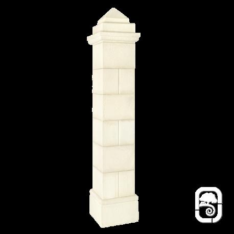 Pilier Périgord 50 blanc en pierre reconstituée - H 340cm
