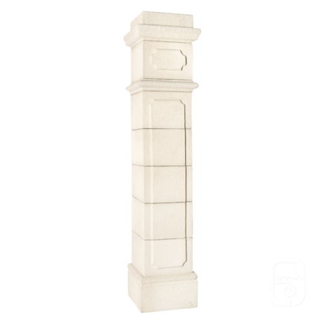Pilier Médoc 30 blanc en pierre reconstituée - H 201cm