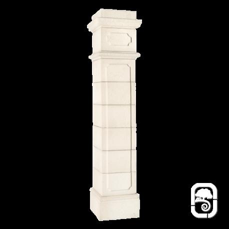 Pilier Médoc 40 blanc en pierre reconstituée - H 229cm