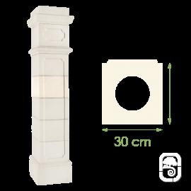 Élément de pilier Médoc ton blanc - 30cm