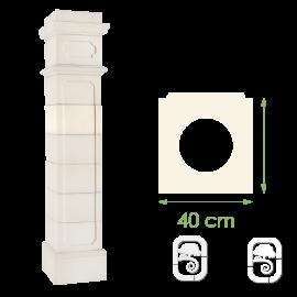 Élément de pilier Médoc ton blanc - 40cm