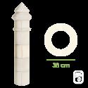 Élément de pilier Carignan ton blanc - Ø 38cm