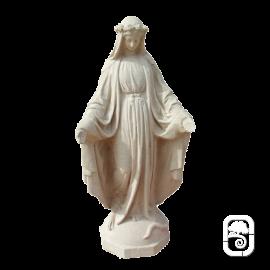 Statue de la Vierge ton vieilli - H 73cm