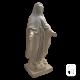 Statue Vierge Marie ton vieilli - H 86cm
